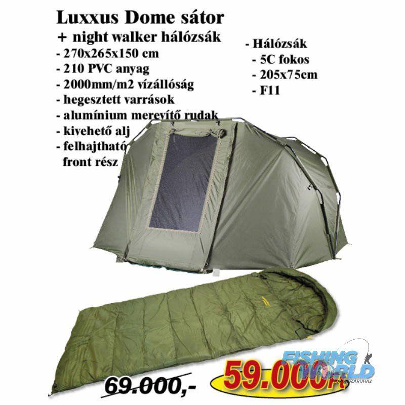 7734332a13a4 Nevis Luxxus Dome sátor + Nightwalker hálózsák - FishingWorld